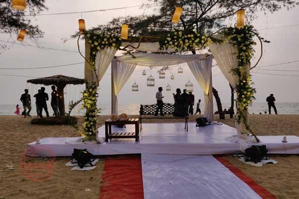 Beach wedding by Red Carpet Weddings Kochi Kerala