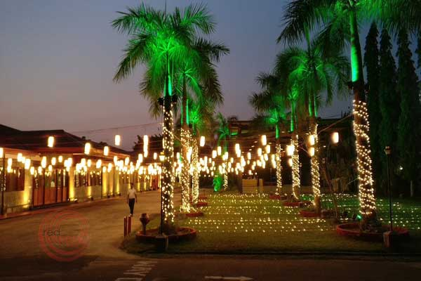 Lighting decor by Red Carpet Weddings Kochi Kerala