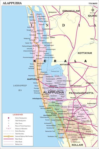 ALAPPUZHA MAP