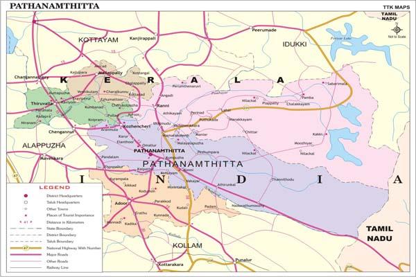 PATHANAMTHITTA MAP