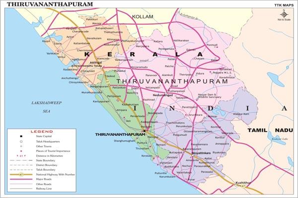 THIRUVANANTHAPURAM MAP